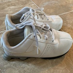 Nike Shox Athletic Sneakers White Shoes Youth